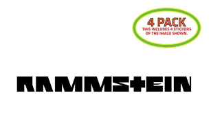 Rammstein Sticker Vinyl Decal 4 Pack For Sale Online Ebay