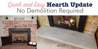 quick and easy hearth update with no