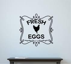 Gracie Oaks Rowen Fresh Eggs Chicken Coop Farm Country Decor Vinyl Wall Decal Wayfair