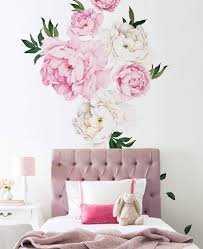 Gorgeous Set Of 6 Giant Peony Wall Decals Flower Wall Stickers Decor Nursery Wall Decals
