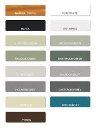 Colour Chart And Paint Information Trellis Direct