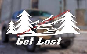 Get Lost Window Decal Exploring Decal Funny Decal Etsy