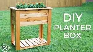 raised planter box with drainage
