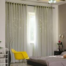 Modern Stars Window Curtains For Living Room Bedroom Kids Room Pink Blue Grey Voile Tulle Curtain Double Layer Door Curtains Curtains Aliexpress