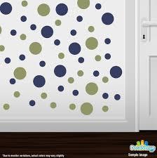 Set Of 30 Olive Green Navy Blue Vinyl Polka Dot Wall Decals Etsy