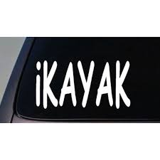 I Kayak Sticker Canoe Water Fun Car Decal Window Laptop 6 C432 Walmart Com Walmart Com