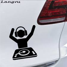 Langru Car Sticker Dj Music Packaging Pattern Movement Vinyl Decal Accessories Decoration Jdm Car Stickers Aliexpress