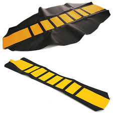 motorcycle seat cover yellow black