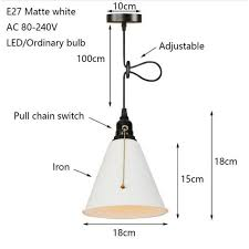 pull chain switch hanging lamp e27 led