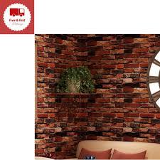 self adhesive wallpaper rust red brown