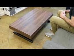 alzare coffee table converts into 6