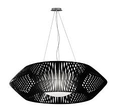 geometric pendant light 105cm black