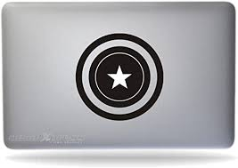Amazon Com Captain America Sticker Decal Macbook Air Pro All Models Computers Accessories