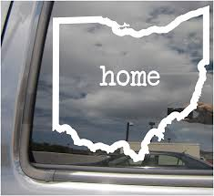 Amazon Com Right Now Decals Ohio State Home Outline Oh Columbus The Buckeye State Usa America Cars Trucks Moped Helmet Hard Hat Auto Automotive Craft Laptop Vinyl Decal Store Window Wall