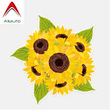 Aliauto Flowers Car Stickers Pretty Sunflower Auto Decoration Vinyl Decal Volkswagen Chevrolet Ford Focus Honda 14cm 13cm Car Stickers Aliexpress