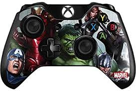 Amazon Com Skinit Decal Gaming Skin Compatible With Xbox One Controller Officially Licensed Marvel Disney Avengers Assemble Design