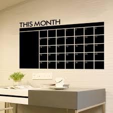 Month Calendar Chalkboard Removable Planner Wall Stickers Black Board Office School Vinyl Wall Decals Supplies Home Decoration Akolzol Com