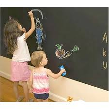 Wall Stickers Wallpaper Chalkboard Kids Room Decoration Decorative Blackboard Sticking Black Wall Kids Paint Slate 15 Belecthleen