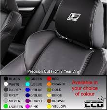 Lexus F Sport Car Seat Decals