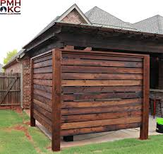 Custom Cedar Wood Privacy Wall Around A Hot Tub In 2020 Hot Tub Backyard Hot Tub Landscaping Hot Tub Patio