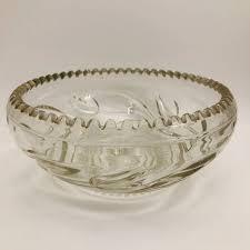 vintage glass serving bowl large glass