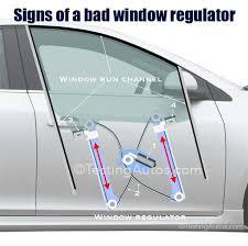 signs of a bad window regulator window