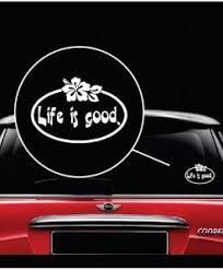 Life Is Good Hibiscus Flower Decal Sticker Midwest Sticker Shop
