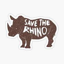 Rhino Stickers Redbubble
