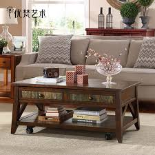 wood coffee table small apartment