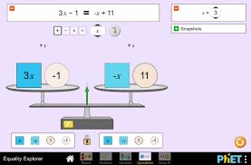 equality explorer solving equations