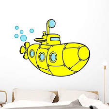 Amazon Com Wallmonkeys Yellow Submarine Wall Decal Peel And Stick Decals For Boys 48 In H X 48 In W Wm375181 Home Kitchen