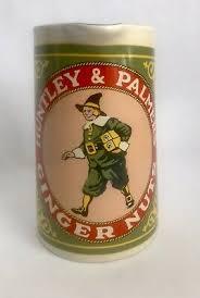 Vtg Huntley & Palmers Ginger Nuts Advertising Ceramic Pitcher ...