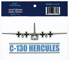 Eagle Crest C 130 Hercules Made In Usa Outside Car Decal Sticker Pack Of 2 White 5 5 Walmart Com Walmart Com