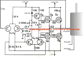 three phase ac converter circuit