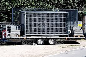 Trailer With Steel Fence Stock Photo Download Image Now Istock