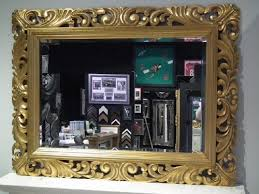large gold mirror carved solid wood