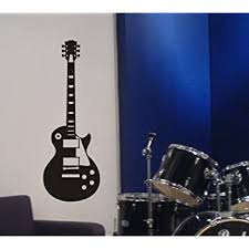 Amazon Com Arise Decals Electric Guitar Wall Decal Removable Sticker Gibson Les Paul Style Home Kitchen