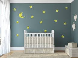 Moon And Stars Night Sky Decals For Baby Boy And Baby Girl Rooms Kinacle