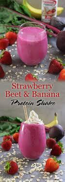 strawberry beet banana protein shake