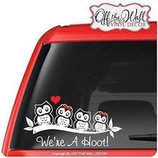 Owl Family Stick Figure Vinyl Car Truck Vehicle Vinyl Decal Sticker Od3 Handmade Xghg6yshk