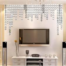 diy acrylic mirror wall sticker square