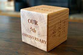 5th year anniversary block