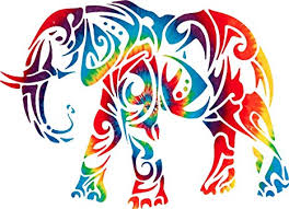 Amazon Com Yeti Or Rtic Cup Size 3 X 4 Inch Printed Tie Dyed Elephant Animal Car Window Truck Laptop Decal Sticker Everything Else