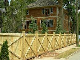Wooden Privacy Fence X Design Could Be Taller For Patio Screen Fence Design Fence Options Fence