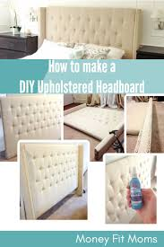 how to diy upholstered headboard with