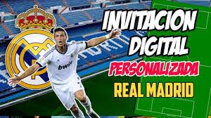 Invitacion Cumpleanos Digital Real Madrid Dinamita Producciones