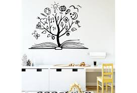 Book Tree Wall Decal Vinyl Sticker For Kids Rooms Bedroom Library School Decoration Home Decor Wish