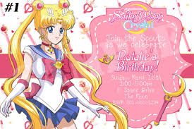 Anime Party Invitations Google Search Sailor Moon Birthday