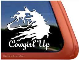 Cowgirl Up Dc472cgu High Quality Adhesive Vinyl Horse Etsy