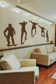 Skateboarder Ollie Action Wall Decal Set Large 32 Colors Walltat Com